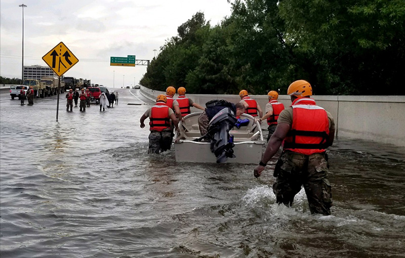 Soldiers in Hurricane Harvey